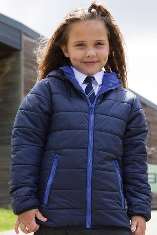 Jachetă căptuşită de copii Result Core, cu glugă, super-moale, ușoară și călduroasă #jachete #copii #personalizate #brodate #imprimate