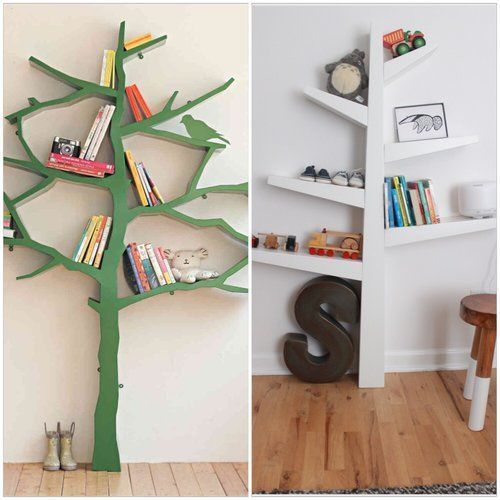 Unique tree shelves
