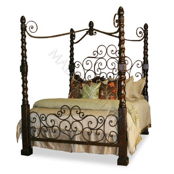 17 Best Images About Wrought Iron Canopy Beds On Pinterest Wrought Iron Bedroom Furniture And