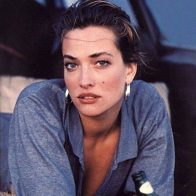 Tatjana Patitz shot by Peter Lindbergh for Marie Claire France.