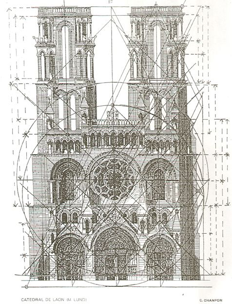 Laon Cathedral's regulator lines - List of works designed with the golden  ratio - Wikipedia,