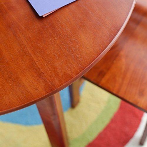 Lipper International 524W Childu0027s Round Table And 2 Chair Set, White