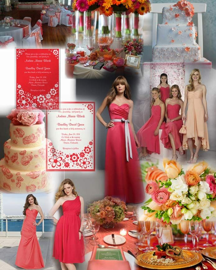 watermelon color wedding decorations | ... and lively colour theme for weddings by www.glamourousgowns.co.uk