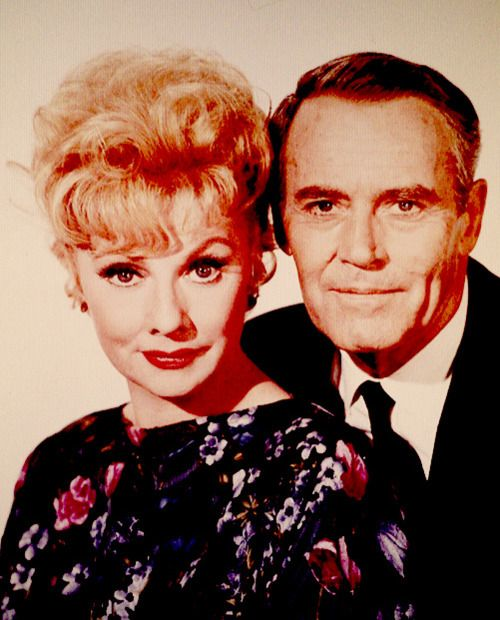 Lucille Ball and Henry Fonda photographed for Yours, Mine, and Ours (1968)