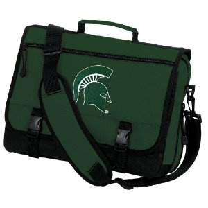 Michigan State University Messenger Bag Green MSU Spartans Logo School Bag or Briefcase Laptop Bags - Best Unique GIFT IDEA for Men Man Ladies Him Her Students Alumni Women Teens (Apparel)  http://www.99homedecors.com/decors.php?p=B0069T0UOM  B0069T0UOM