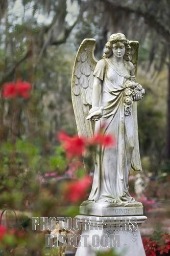 Angel Statue at Bonaventure Cemetery in Savannah Georgia