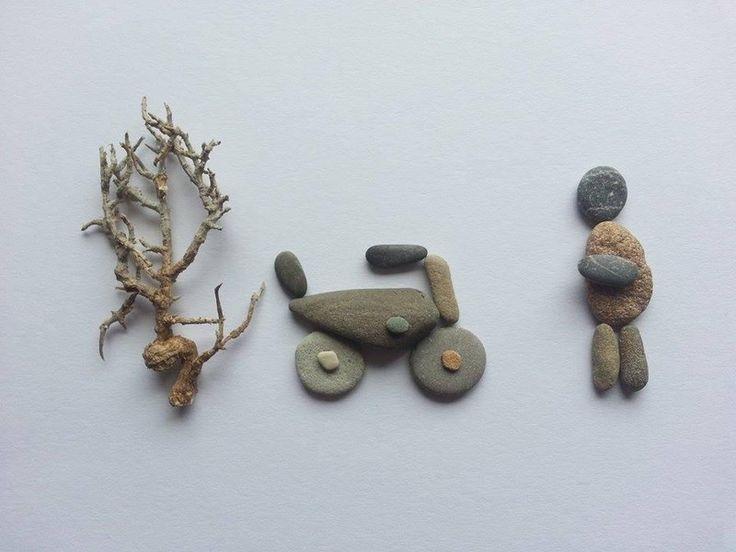 die besten 17 bilder zu tamikra kunst mit stein kieselsteinbilder pebbles art auf pinterest. Black Bedroom Furniture Sets. Home Design Ideas