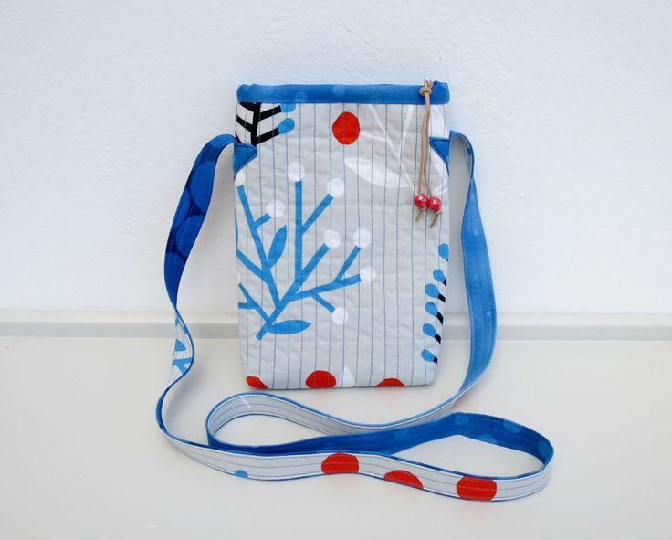 Mini Crossbody bag - Shoulder Bag with Marimekko fabric by NerosPost on Etsy