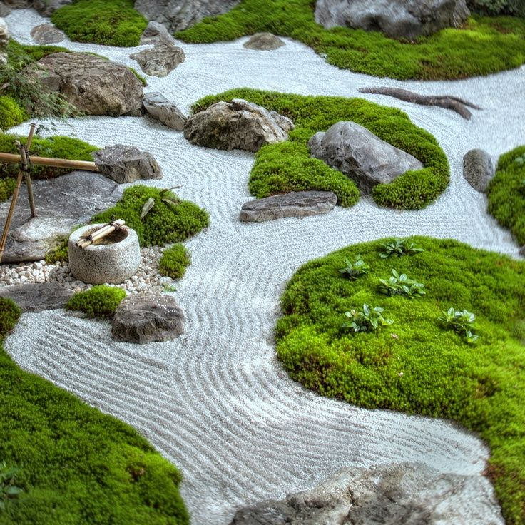 Kare-sansui Dry Riverbed. What A Beautifully Laid-out