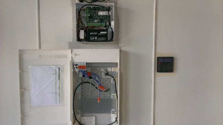 Hager NBN enclosure and Protege security system.