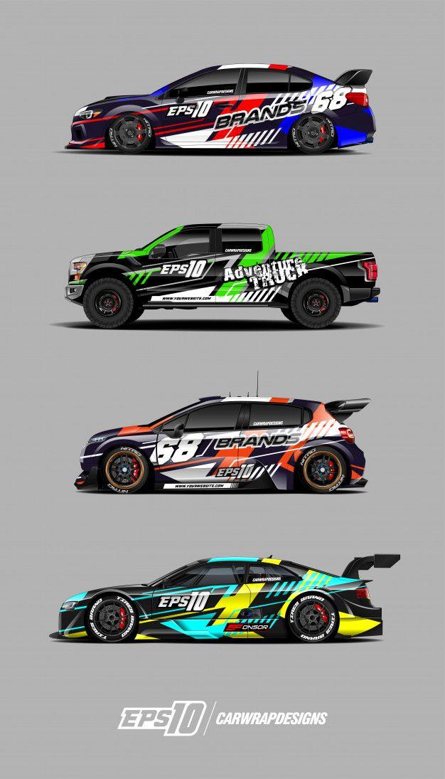 Race Car Decal Set Designs In 2020 Racing Car Design Car Sticker Design Race Cars