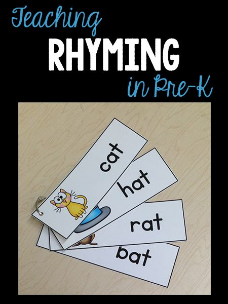 Ideas & activities to teach rhyming in pre-k/ preschool