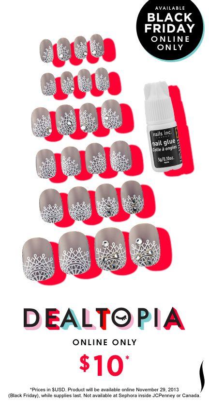 Black Friday Preview: Nails Inc Crystaltastic Nails #Dealtopia #Sephora #blackfriday