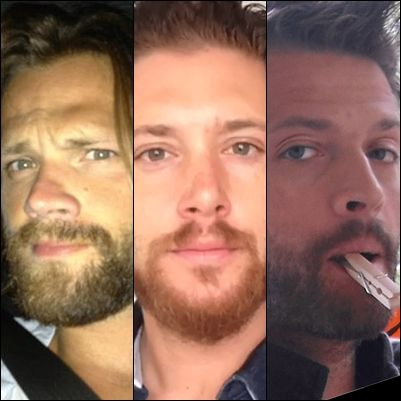 "Daddys with beard 1) Jared Padalecki - Thomas Colton Padalecki (1 year) 2) Jensen Ackles - Justice Jay ""JJ"" Ackles (1 Month) 3) Misha Collins - West Anaximander (2 years) and                              Maison Marie Collins (10 Month)"