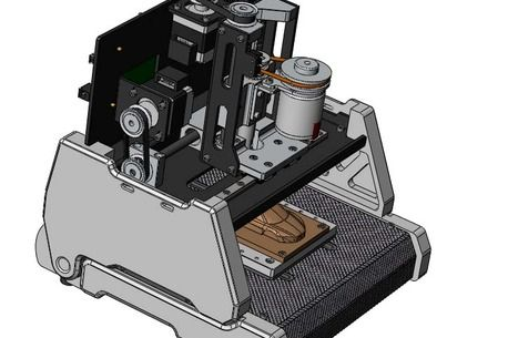 CAD model 3-axis desktop cnc machining(concept model) avaliable to download for Solid works and also STEP format for use with most CAD software