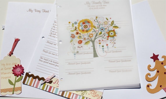 BABY MEMORY BOOK  owl by chicmemories on Etsy, $90.00 – Baby items