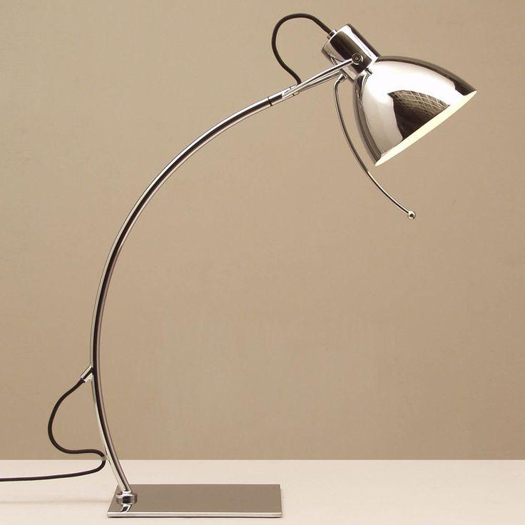 lampe poser avec t te orientable en m tal saga chez. Black Bedroom Furniture Sets. Home Design Ideas