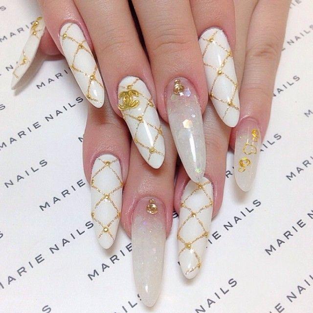 #marienails#japan#YTmanicure#cute#pretty#kawaii#nail#love#girl#follow#me#my#happy#smile#beautiful#sophisticated#white#swag#fashion#nails#followme#tbt#igers#instadaily#マリーネイルズ#表参道#青山#梅田#心斎橋#ネイル