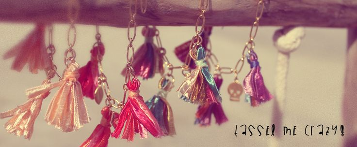 Tassel bracelets with cute little skull, leaf and hamsa charms. Made from 16k gold plated chain and 14k gold plated charms!