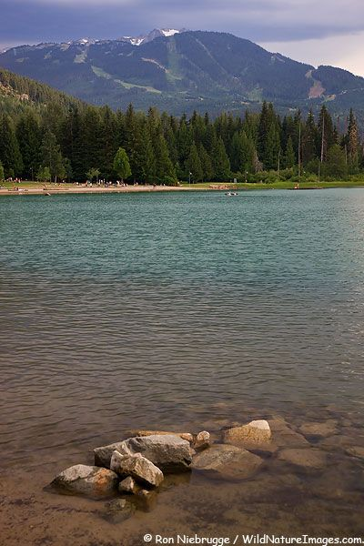 Lost Lake is a short hike, bike or ski from the WhistlerBlackcomb villages.  Whistler, British Columbia, Canada