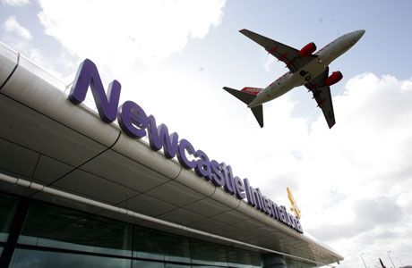Newcastle International Airport, situated not far from Ponteland