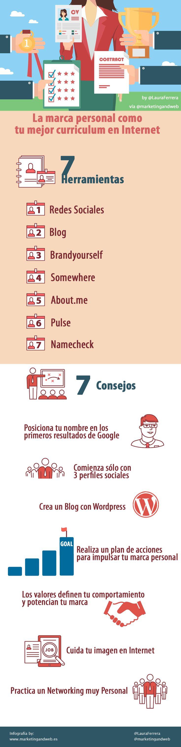 #MarcaPersonal: tu mejor curriculum en Internet, #infografía #rrhh #empleo