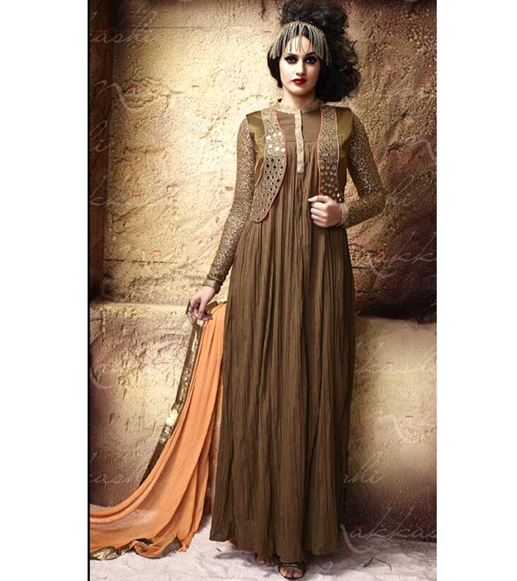 Naksh - Princess Appeal In Coffee Colour Designer Salwar Suit