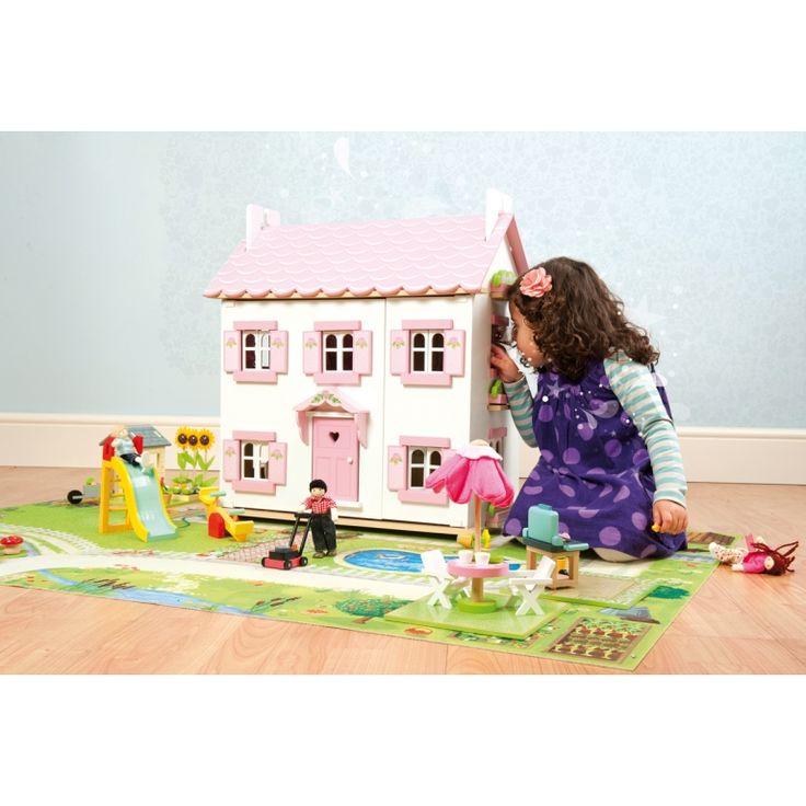 Spectacular Holz Puppenhaus uSophie s house u wei rosa cm