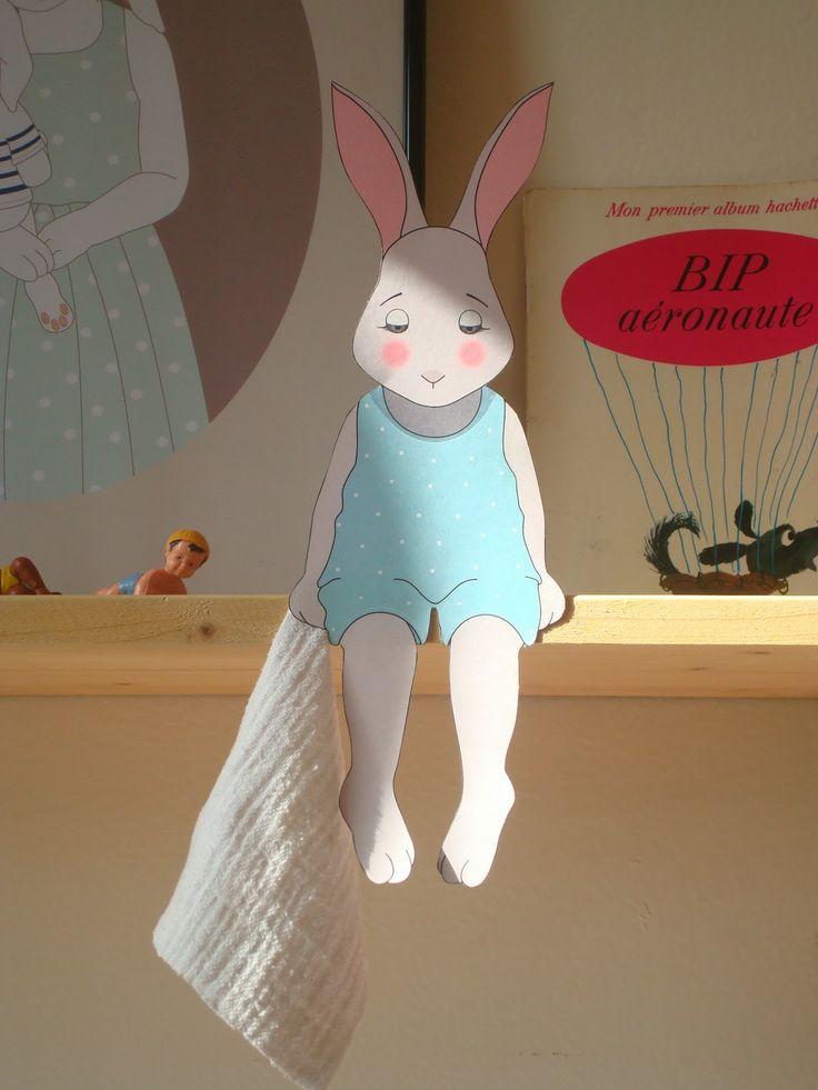 Free Printable Easter Bunny on the Shelf