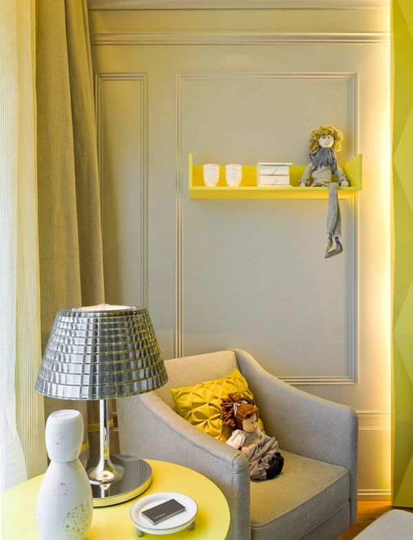 Quarto de bebê amarelo e cinza Quanto do Felipe Pinterest