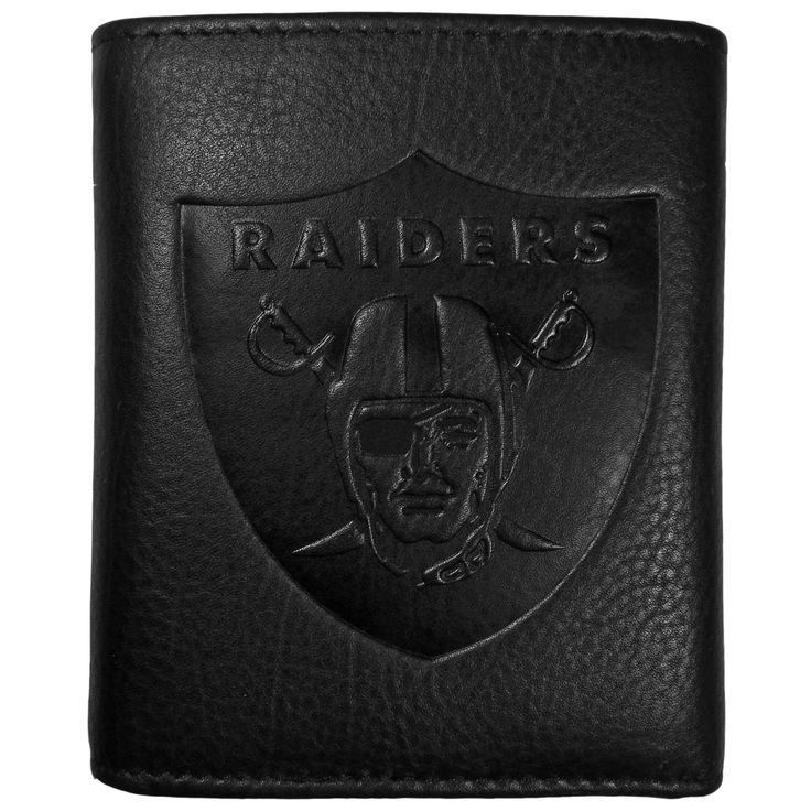 "Checkout our #LicensedGear products FREE SHIPPING + 10% OFF Coupon Code ""Official"" Oakland Raiders Embossed Leather Tri-fold Wallet - Officially licensed NFL product Features; lots of credit card slots, window ID slot, removable plastic sleeves, large billfold pockets Superior quality makes this wallet a must have men's fashion accessory Genuine fine grain leather and expert craftmanship Deeply embossed Oakland Raiders logo on the front of the wallet for the proud fan - Price: $22.00. Buy…"
