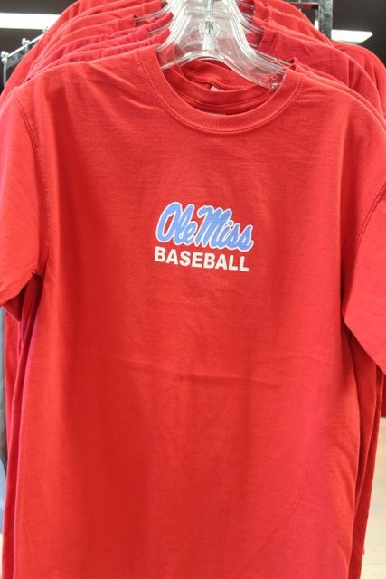 Ole Miss Baseball Comfort Color Red short sleeve $24.95