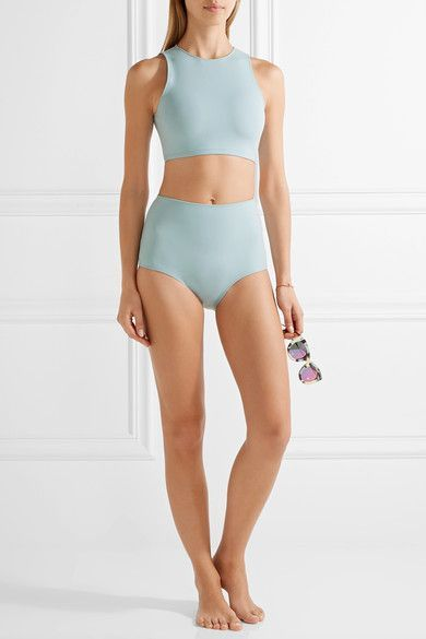 Rochelle Sara - The Emily High-rise Bikini Briefs - Sky blue -