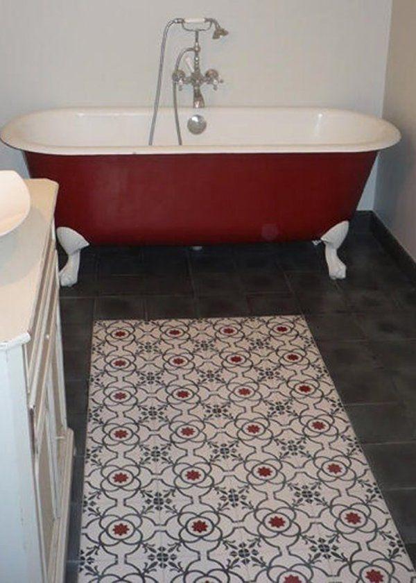 307 best cement tile ideas images on pinterest cement - Relooker sa salle de bain ...