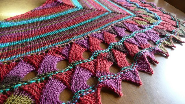 Knitting Pattern For Entrelac Shawl : Ruths Entrelac Butterfly Shawl pattern by Ruth Thome