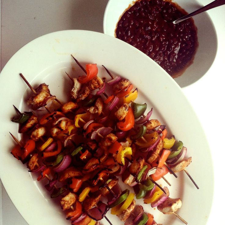 Grilled Chicken Fajita Kabobs - I used the marinade but grilled whole ...