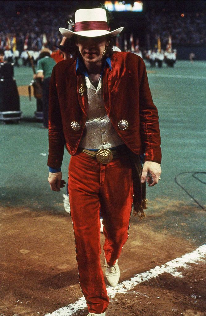 Stevie Ray Vaughan at the Astrodome, April 9, 1985. Photo: Houston Chronicle / Houston Chronicle