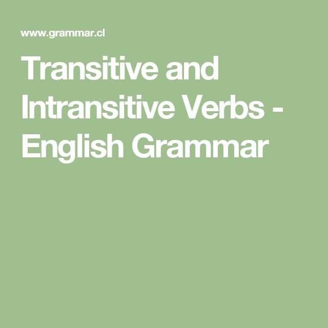Transitive and Intransitive Verbs - English Grammar