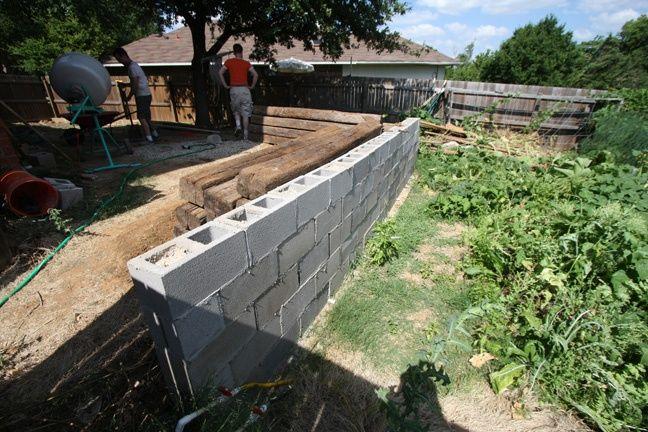 Diy Retaining Wall Railroad Tie ~ http://modtopiastudio.com/basic-diy-retaining-wall-instruction/