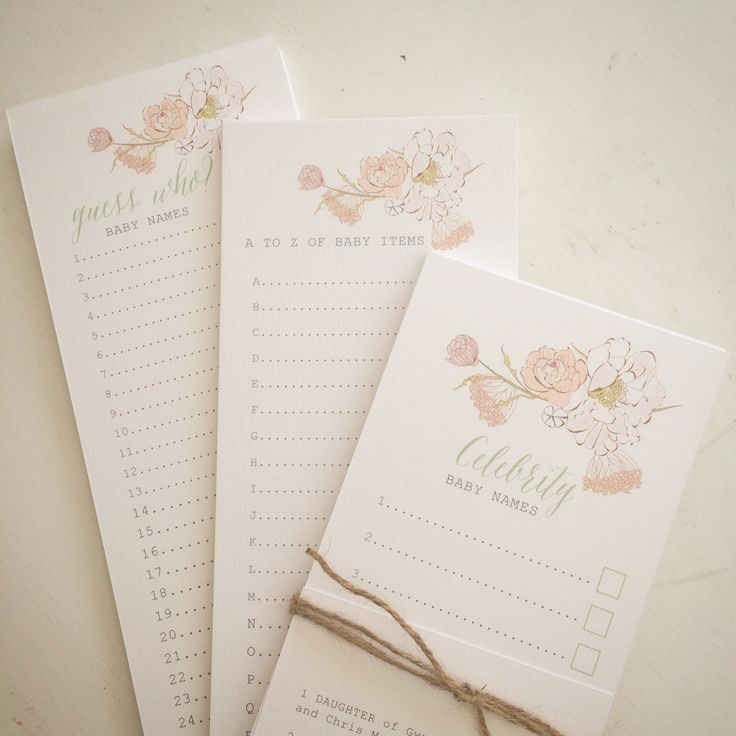 Baby shower games by www.imprintables.com.au