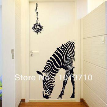 Personalizados zebra bar ktv pegatinas de pared for Pegatinas para paredes de dormitorios