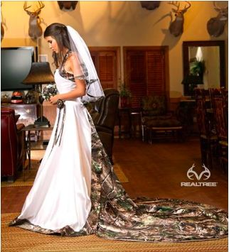 Camo Wedding gown