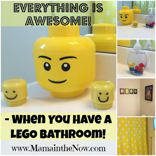 Everything is Awesome When you Have a LEGO Bathroom. Unique DIY accessories included that you wouldn't normally think of for a LEGO bathroom!