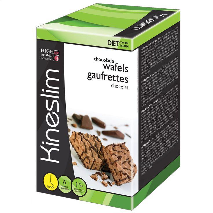 Kineslim Chocoladewafels   Deze lekkere uitgebalanceerde wafels zijn de ideale snacks voor wie een proteïnerijk voedingsdieet wil volgen.