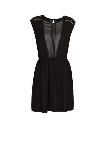 MANGO - Semi-transparent panel dress