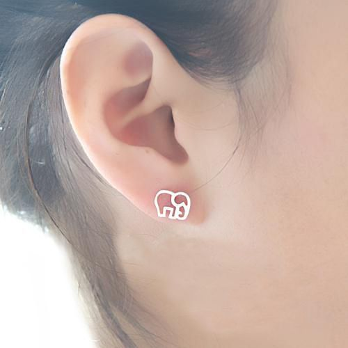 Cute 925 Sterling Silver Elephant Stud Earring @Sarah Chintomby Tolbert Mesa @Laurel Wypkema Wypkema Lunsford