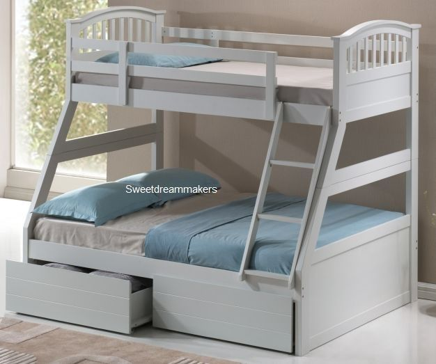Triple Bunk Beds White Bed Next Day Delivery