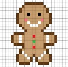 Bildresultat för pixel art template christmas