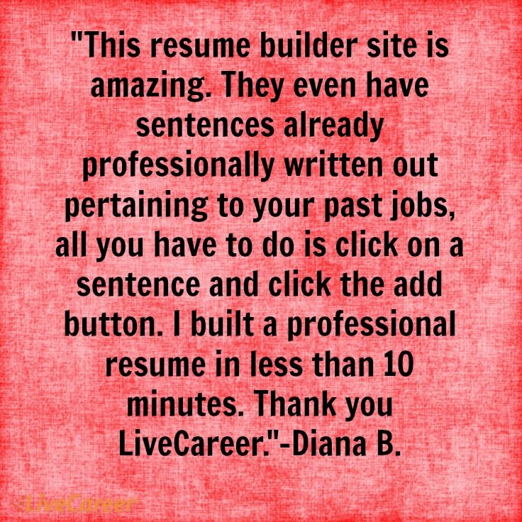 182 best LiveCareer Reviews images on Pinterest Resume builder - resume builder site