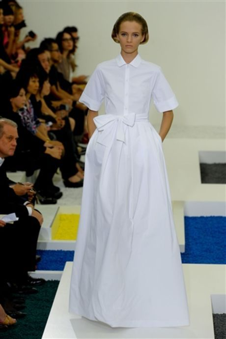 Jil Sander Spring 2012: the Shirt Dress Reinvented, the 1950s Made Modern--Is Raf Simons Ready for YSL? - Fashionista